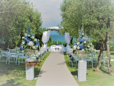 Un allestimento floreale per la cerimonia civile