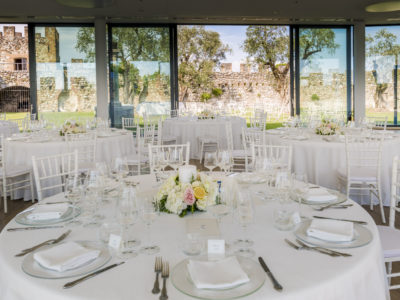 Area per la cena matrimoniale nella Rocca